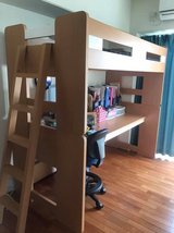 Loft bed with desk in Okinawa, Japan
