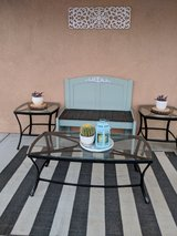 Bench and tables in Yucca Valley, California