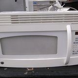White GE Microwave (Over the Stove) in Warner Robins, Georgia