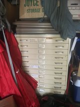Metal flat file filing cabinet for art, blueprints, maps etc in Plainfield, Illinois
