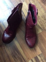 Girl's size 3 red cowgirl boots in Yorkville, Illinois