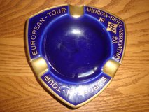 European Tour American Hotel Association AHA 1926 Cobalt Blue Gold Trim ASHTRAY in Orland Park, Illinois