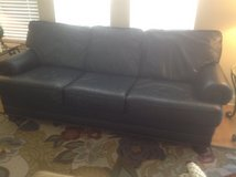 Navy Leather Sofa in Naperville, Illinois