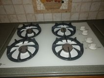 GE gas stove top and GE microwave in Naperville, Illinois