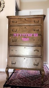 wooden dresser as is or a project piece. in Aurora, Illinois
