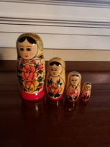 Russian nesting doll with 4 graduated sized identical hand painted in Aurora, Illinois