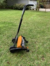Fiskars push lawnmower in Houston, Texas