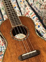 Fender Ukulele tenor polished Koa Wood w/ mother of pearl inlay in The Woodlands, Texas