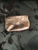 Coach wallet wristlet — silver metallic leather in The Woodlands, Texas