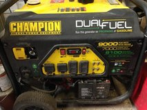 Champion Dual fuel generator in Conroe, Texas