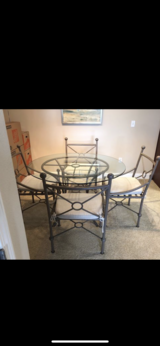 Beautiful Glass Top Table & 4 Chairs in Aurora, Illinois