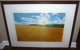 Vtg 1973 Lithograph FOR AMBER WAVES OF GRAIN Framed Art by Raymond Hosford in Orland Park, Illinois