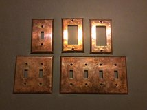 Copper Wrapped Switch Plates in Aurora, Illinois