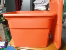 Sterilite Orange Container with Lid in Houston, Texas
