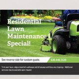 residential lawn cutting in Yorkville, Illinois