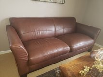 Leather couch and chair in Naperville, Illinois