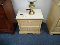 Cream Color Nightstand in Glendale Heights, Illinois