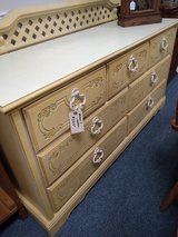 Cream Color Dresser with Mirror in Glendale Heights, Illinois