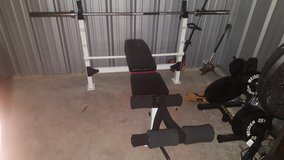 Olympic Bench, Rack, and Weights in Clarksville, Tennessee