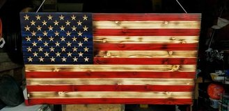 Wooden American Flag in Camp Lejeune, North Carolina
