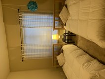 Twin bed set with bedding in Tacoma, Washington
