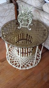 Macrame Table - Glass in Batavia, Illinois