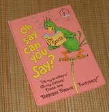 RARE Vintage 1979 Dr Suesss Oh Say Can You Say Hard Cover Book  Age 3 - 7 * Grade Preschool - 2nd in Yorkville, Illinois