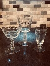 Beautiful Antique Crystal Glass Set in Bolingbrook, Illinois