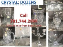 Dozens of Crystal~Glassware~Decor pieces priced 2 Sell Quickly,Moving. Mikasa,Royal Ltd, Fifth A... in Rosenberg, Texas