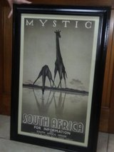 Vintage framed Travel poster in Moody AFB, Georgia