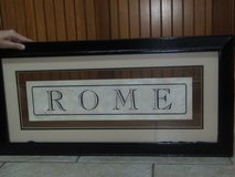 Art Deco styled ROME picture in Moody AFB, Georgia