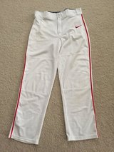 White/Red Piping NIKE Adult M Baseball Pants in Westmont, Illinois