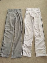 White or Grey/black Piping (S) Adult Baseball Pants in Joliet, Illinois