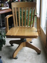 Antique Oak Banker's Arm Chair – Milwaukee Chair Company in Chicago, Illinois