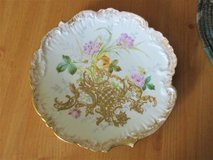 Antique R. Deliniers & Co D&C LIMOGES Roses Plate Heavy Gold France 1890'c in 29 Palms, California