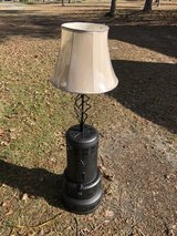 Lamp made from old heater in Moody AFB, Georgia