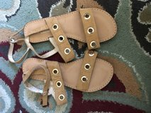 Brown sandals in Yucca Valley, California