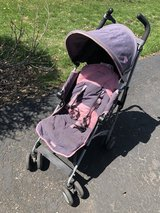 MacLaren Quest pink/gray umbrella stroller in Bolingbrook, Illinois