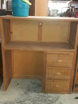 solid wood desk with fancy draws in Fort Polk, Louisiana