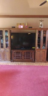 4 piece oak wall unit in Leesville, Louisiana