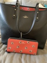Reversable Coach Tote and matching wallet in Camp Pendleton, California