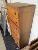 Unique Vintage Tall, Narrow, Solid Wood Chest of 6 Drawers in Naperville, Illinois