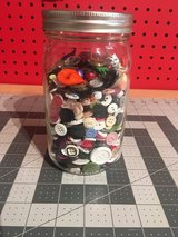 Mason jar full of buttons in Yucca Valley, California