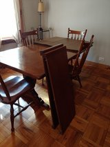 Ethan Allen dining table and hutch. in DeKalb, Illinois