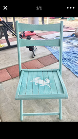 Folding chair in Yucca Valley, California