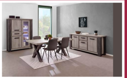 United Furniture - Matteo Dining Set in Dark Forest + Black including delivery in Wiesbaden, GE