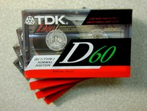 Five NEW TDK D60 Cassette Tapes in Westmont, Illinois