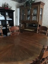 oak dinette table 6 chairs and China cabinet in Hopkinsville, Kentucky