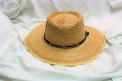 Men's Wide Brim Straw Fishing Hat Sun Shield Vented Hike Camp Summer in Houston, Texas