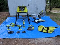 Table Saw, Sliding Miter w/Laser, Tool Bag of Various Hand Tools in Fort Benning, Georgia